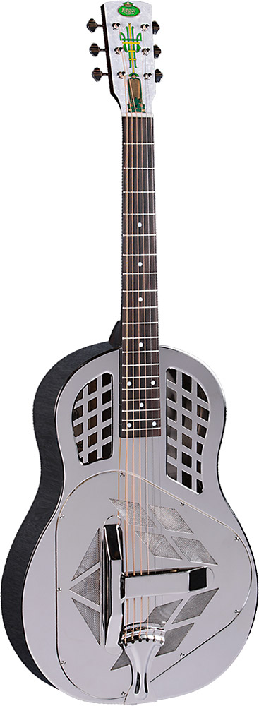 Regal Tricone Resonator Guitar Nickel plated bell-brass body, T style spider/bridge, spun alum cones