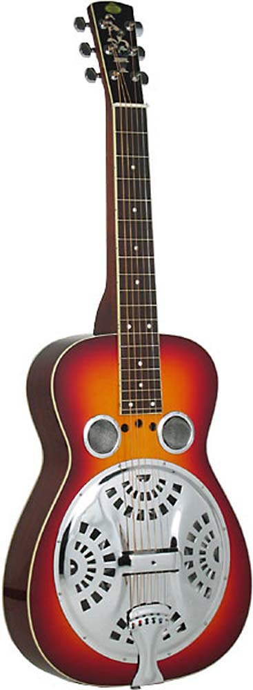 Regal Squareneck Resonator Guitar Spruce top, mahogany body, Exclusive power reflex chamber, Cherry sunburst