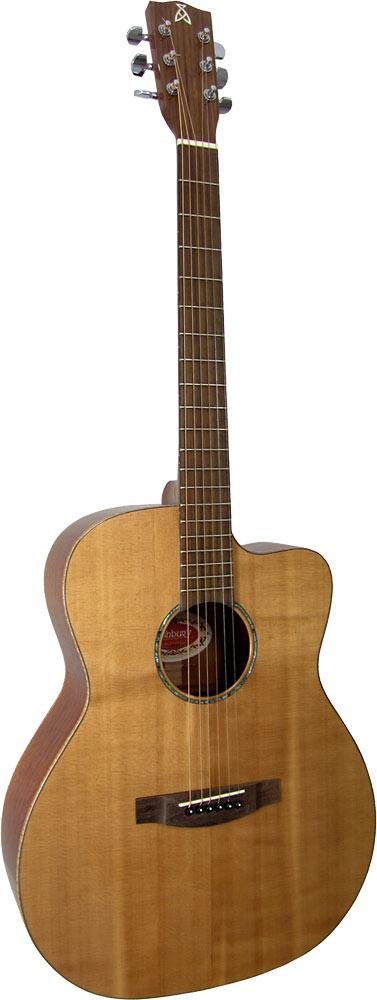 Ashbury Rathlin OOO-C Electro Guitar Fishman Isys p/u & EQ. Solid Sitka Spruce top, cutaway sapele body.