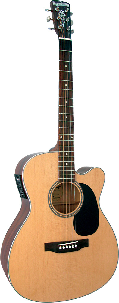 Blueridge Contemporary 000Guitar, Electro OOO size with cutaway, solid spruce top, Fishman classic 4 p/u with tuner