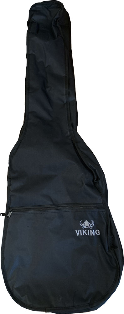Viking Standard Electric Guitar Bag Tough 600D black nylon outer with 3mm padding. Black lining.