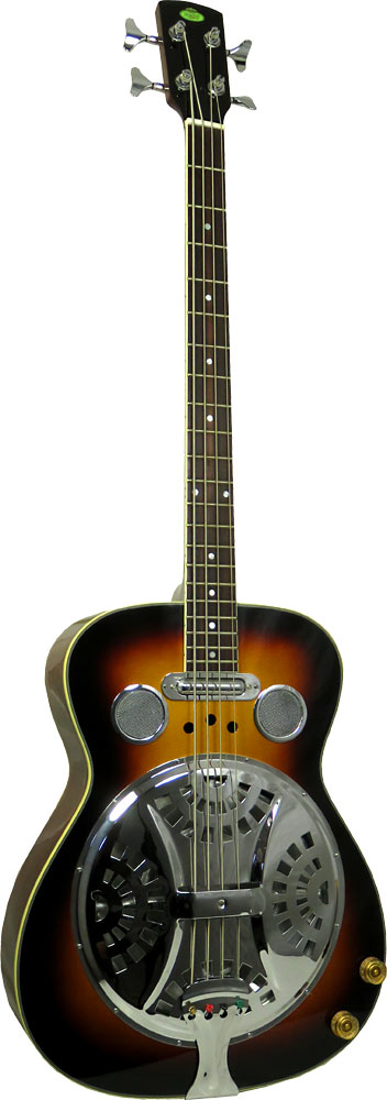 Regal Resonator Bass Guitar, Electro Attractive and resonant spruce top with mahogany back and sides