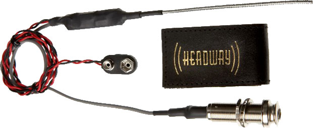 Headway Ukulele Pick-Up Snake 3 model Flexible cable piezo uke pickup. Complete low cost active system.