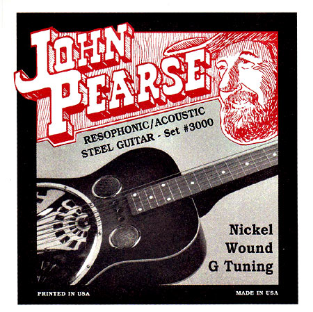 John Pearse Resophonic Guitar, G Tuning .016-.059. Nickel wound. Perfect For G tuned resophonic or acoustic Guitar