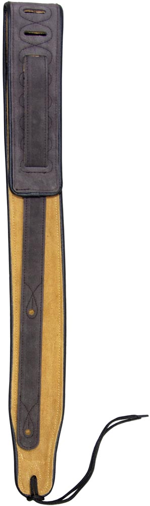 Viking Suede Guitar Strap, Brown With padding. 2, 5