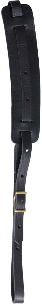 Ashbury Vintage Leather Guitar Strap Black 20mm thick guitar strap with a padded adjustable 60mm shoulder pad.