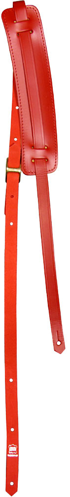 Ashbury Vintage Leather Guitar Strap Red 20mm thick guitar strap with a padded adjustable 60mm shoulder pad.