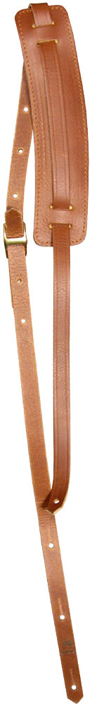 Ashbury Vintage Leather Guitar Strap Tan 20mm thick guitar strap with a padded adjustable 60mm shoulder pad.