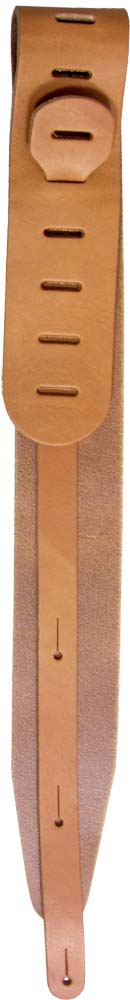Ashbury Genuine Leather Guitar Strap Tan colour. Italian made from high quality leather.