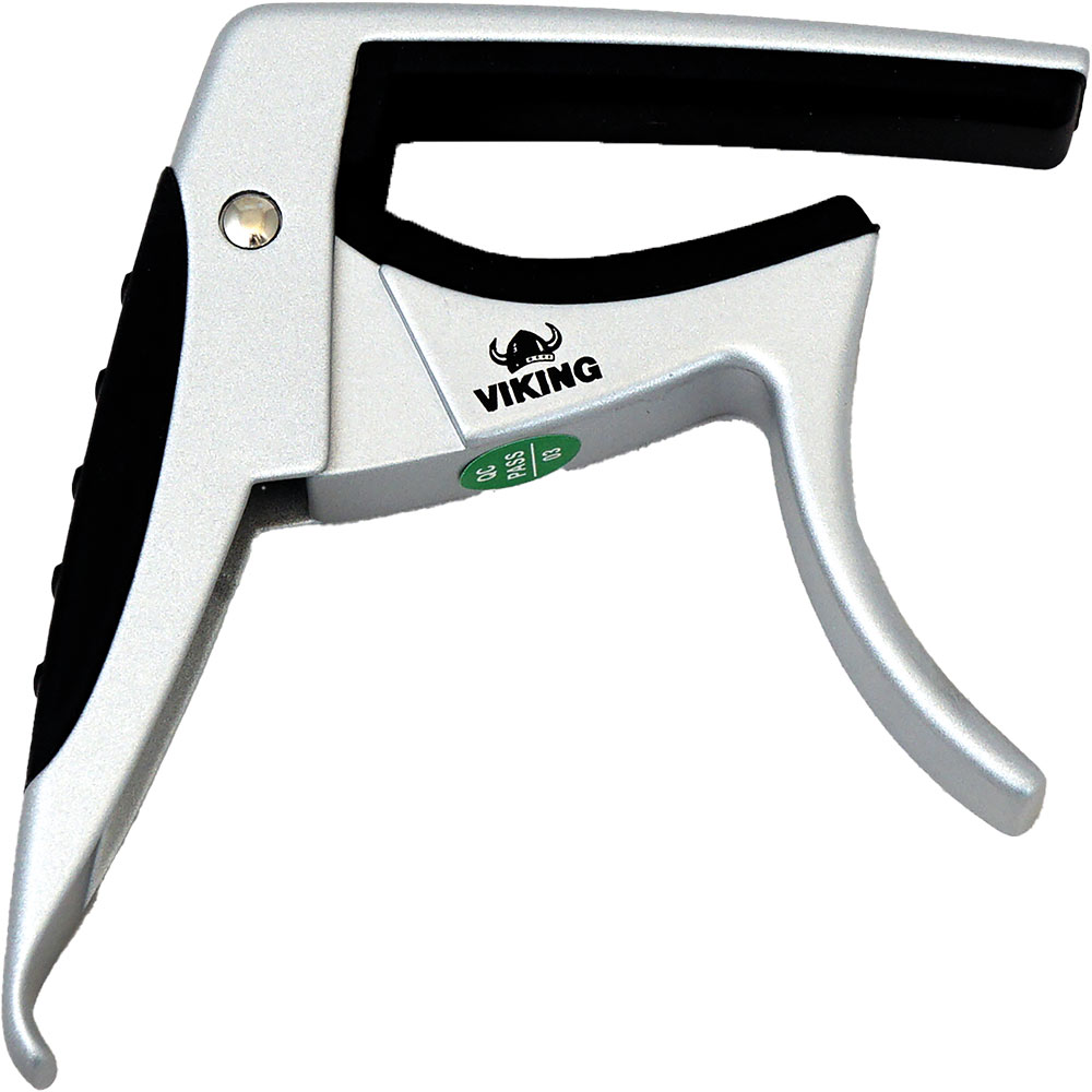 Ashbury Acoustic Guitar Capo Silver colour. Unique design for one hand operation..
