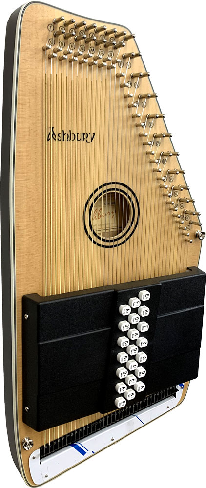 Ashbury 21 Bar Electro Autoharp Spruce top with a natural semi-gloss finish. Magnetic bar pick-up