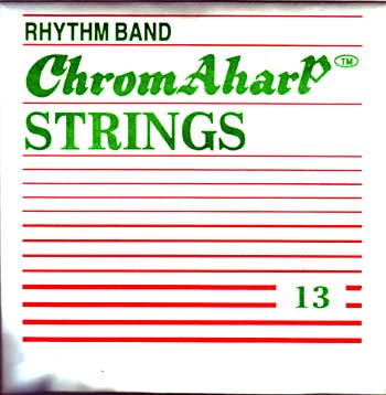 Ashbury Autoharp String Pack No: 2 mid String 13 (D) to 24 (C'). 12 plain ball end strings for the modern Autoharp..