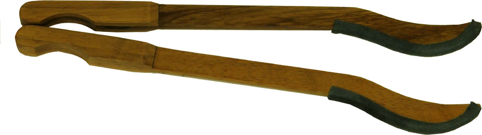 Atlas Dulcimer Hammers, Leather Ends Pair of walnut wood hammers with leather ends for Hammered Dulcimers