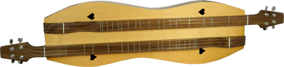 Stoney End Courting Appalachian Dulcimer Double sided for 2 players! Hourglass body, heart shaped holes.