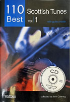110 Best Scottish Tunes Vol 1 Book and CD edition with guitar chords, collected by John Canning