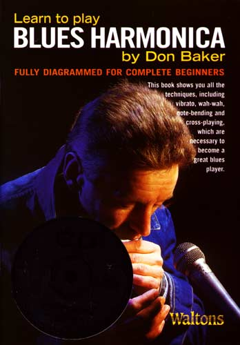 The Blues Harmonica Book&cd Pk Illustrated method book by Don Baker, with 60 minute CD