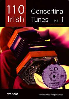 100 Irish Concertina Tunes Vol 1 with guitar chords, collected by Aogan Lynch. Book & CD