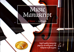 Music Manuscript Book 6 Stave with 24 pages of music manuscript paper.