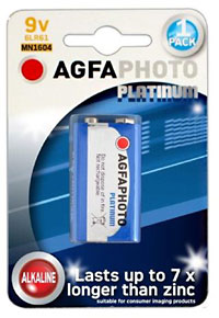 Agfa photo 9v Battery Model 6LR61 MN1604.