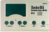 Intelli Digital Chromatic Tuner Wide screen LCD meter, Slim and compact design. IMT-102.