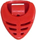 Viking Pick Holder, Red Coloured Plectrum holder in Red. Attaches to instrument