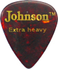 Johnson Faux Tortoise Shell Pick, Ex H Faux Tortoise Shell style Celluloid, Extra Heavy 0.048