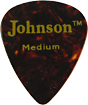 Johnson Faux Tortoise Shell Pick, Med Tortoise Shell style Celluloid, Medium 0.028