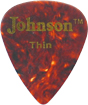 Johnson Faux Tortoise Shell Pick, Thin Tortoise Shell style Celluloid, Thin 0.018