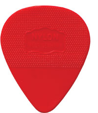 Herdim Red Nylon Pick. 73mm Medium gauge quality Nylon guitar pick. Stamped with Germany