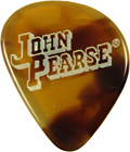John Pearse Fast Turtle Guitar Pick, Heavy Single. Re-creates the great sound of Tortoise shell but made from Casein resin