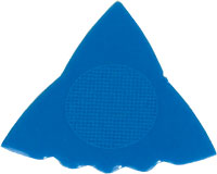 Herdim Tri Blue Nylon Pick. 5 Pack Pack of 5 triangle shaped triple gauge guitar pick. .88mm thickness.