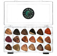 Timber Tones Display Tray, 54 Mixed Picks A selection of 18 mixed guitar picks. 3 of each type.