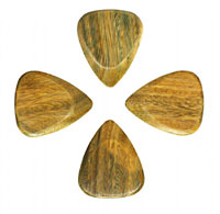 Timber Tones Lignum Vitae Single Pick Ideal for Electric Guitar.