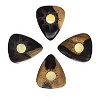 Timber Tones Malay Ebony Single Pick Ideal for Electric Guitar & Archtop Jazz Guitar.