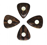 Timber Tones Macassar Ebony Single Pick Ideal for Electric Guitar & Archtop Jazz Guitar.