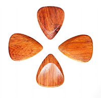 Timber Tones Bloodwood Single Pick Ideal for Electric Guitar & Archtop Jazz Guitar.