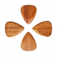 Timber Tones Almond wood Single Pick Ideal for Acoustic Guitar & Archtop Jazz Guitar.