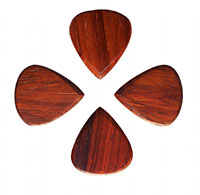 Timber Tones Burma Padauk Single Pick Ideal for Acoustic Guitar & Archtop Jazz Guitar.