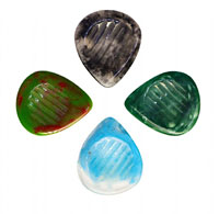Timber Tones Grip Resin Tones Pick 4 Pack Pack of 4. Ideal for Electric Guitar, Acoustic Guitar & Gypsy Jazz Guitar.