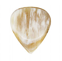 Timber Tones Grip Tones White Horn Pick Single pick ideal for Electric Guitar, Acoustic Guitar & Gypsy Jazz Guitar