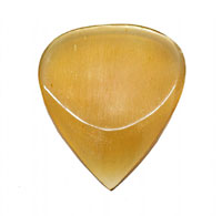 Timber Tones Grip Tones Clear Horn Pick Single pick ideal for Electric Guitar, Acoustic Guitar & Gypsy Jazz Guitar