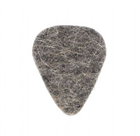 Timber Tones Grey Wool Felt Single Pick 5mm thick, ideal for ukulele & bass guitar.