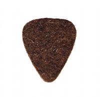 Timber Tones Brown Wool Felt Single Pick 5mm thick, ideal for ukulele & bass guitar.