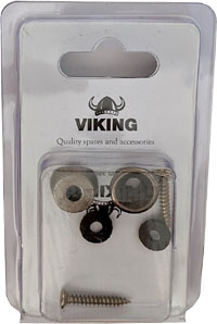 Viking Gun Metal Strap Buttons, Pair A pair of gun metal coloured strap buttons for Uke, Bouzouki, Mandolin etc.