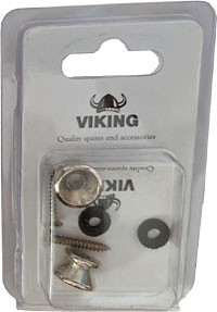 Viking Nickel Strap Buttons, Pair A pair of nickel strap buttons for Guitar, Bouzouki, Mandolin etc.