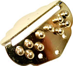 Ashbury Cittern Tailpiece, Brass Small simple design, brass coated. Same as used on Ashbury Davidson Citterns.