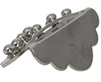 Ashbury Mandolin Tailpiece, Nickel Small simple design, nickel plated brass Same style as on Ashbury Mandolins.