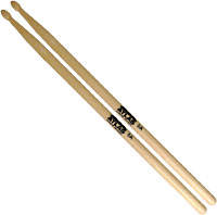 Atlas 5A Hickory Drum Sticks, Wood Wood tip. 406mm long and 14mm thick