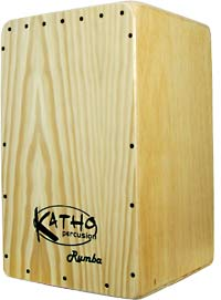 Katho Rumba Cajon, Pine Front Plate Pine plate, 10mm Calabo body, 4 V shape strings, tuneable.