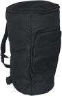 Atlas Deluxe Djembe Bag, Large Black padded bag, 66cm high, 38cm top, 29cm bottom